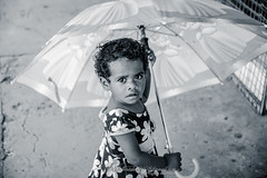 Fiji Child (Qicong Lin(Kenta)) Tags: street travel portrait people blackandwhite bw white black fiji children nikon child nadi d600