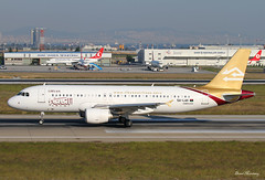 Libyan Airlines A320-200 5A-LAK (birrlad) Tags: turkey airplane airport ataturk taxi aircraft aviation airplanes istanbul international airline airbus airways airlines tripoli departure ist takeoff runway airliner departing a320 libyan taxiway a320200 a320214 5alak