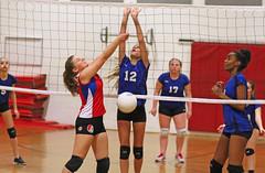 IMG_8493 (SJH Foto) Tags: girls net jump shot action battle teen teenager spike midair block tween burst mode teenage