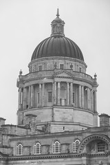 The dome atop the Port of Liverpool building (Tetisheri13) Tags: blackandwhite architecture liverpool dome pierhead portofliverpool