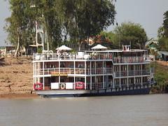 """encore sur le Tonl Sap: l'""""Indochine"""" (vincentello) Tags: cruise cambodge cambodia ship indochine croisire navire tonlsap"""