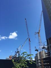 cranes (mikefranklin) Tags: newyorkcity usa newyork apple september photostream highline iphone 2015 a:a=countries a:a=years iphone6