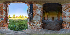 3. Abandoned church in s.Trestna (ilya_yakunin) Tags: panorama church nature architecture canon village russia 360 360x180 spherical 360 sphericalpanorama equirectangular 18135 photosphere 550d canon550d canoneos550d  trestna