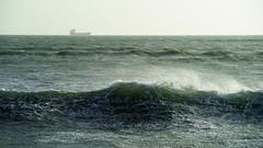 Breaking Wave (kckelleher11) Tags: dublin waves ship sony sigma distance f28 breaking 70200mm 2016 a99 irelandfebuary