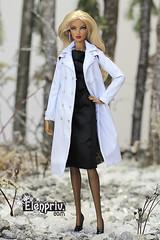 IMG_7268 (elenpriv) Tags: snow forest outfit doll dolls coat trench elena natalia elusive creature diorama fr2 fashionroyalty elenpriv peredreeva
