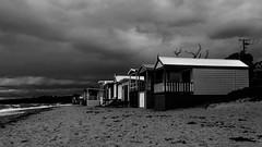 unfriendly (inventing pictures) Tags: sea beach strand dark drive sand marine meer cloudy windy australia melbourne stormy lonely mornington peninsula einsamkeit cottages einsam lonesome htten bewlkt windig unfreundlich tagesausflug strmisch melbournebay australien2015