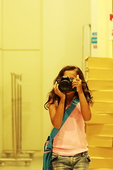 My little photographer... (Masoodz) Tags: city reflection canon 50mm mirror singapore photographer ngc picture indoor photograph vivo masood 650d alizey