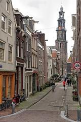 Amsterdam, Eerste Leliedwarsstraat-Westerkerk (Nik Morris (van Leiden)) Tags: holland netherlands amsterdam nederland egelantiersgracht