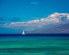 Bliss (Brian Edward Anderson) Tags: ocean seascape water clouds boats hawaii us sailing unitedstates pacific bluesky maui nautical lahaina napili 2015 molikai 2015brianedwardanderson