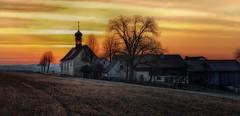 Sunrise at St. Bäuml (explored) (ramerk_de) Tags: church sunrise regensburg pilgrimage hdr upperpalatinate flickrdiamond