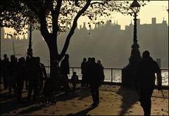 late shadows (BoblyP) Tags: uk england london westminster shadows unitedkingdom southbank riverthames lambeth thamespath lateafternoon lateautumn londonboroughoflambeth boblyp