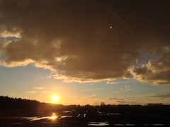 Sunset (Jos Mecklenfeld) Tags: sunset netherlands landscape evening groningen terapel westerwolde appleiphone5c