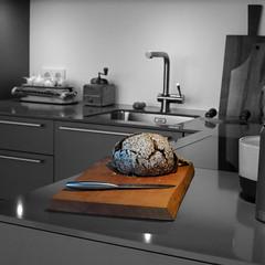 Schneidbrett gro (Treeaddict) Tags: kitchen munich design natural handmade interior board walnut cutting kche rainer deko colorkey walnuss schneidbrett hallmann treeaddict