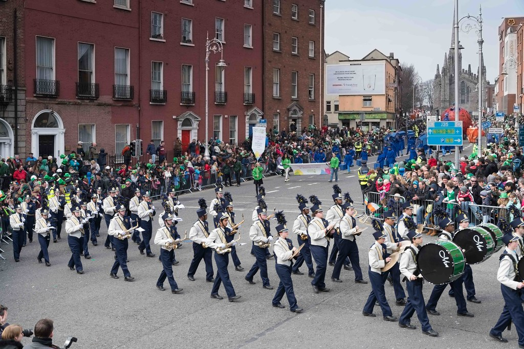 Cathedral High School 'Pride of the Irish' Marching Band [St. Patrick's Day Parade 2016]-112656
