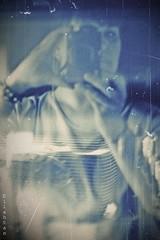 My new camera (nathaliedunaigre) Tags: blue woman selfportrait canon autoportrait femme bleu g1xmarkii