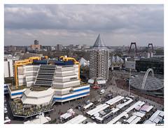 Rotterdam viert de stad (4) / From the ferris wheel (2) (AurelioZen) Tags: people netherlands rotterdam europe blaak market library centre zuidholland wittehuis blaaksebos hetpotlood