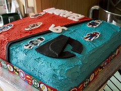 DC close up (Theweird1ne) Tags: blue red white black cake dc comic spiderman ironman superman comicbook superhero batman icing thor marvel captainamerica dairyfree