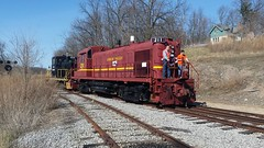Repositioning LV 211 (Rochester & Genesee Valley Railroad Museum) Tags: lehighvalley lv alco rs3m