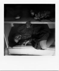 here, all the time (R o t w a n g) Tags: light portrait white black film girl night analog dark polaroid photography soft experimental ghost eerie drawer magnolia hiding polaroid600 istillshootfilm