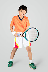 Tennis (Patrick Foto ;)) Tags: boy portrait people white playing cute male beautiful beauty smile face sport kids youth training asian fun thailand happy person one kid healthy pretty child play exercise little expression background joy young adorable lifestyle style happiness player tennis health single thai concept copyspace activity gesture fitness isolated racket