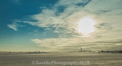 ABC_7662s (savillent) Tags: morning blue sky sun holiday snow canada clouds easter landscape march spring day shine northwest sunday north nwt arctic holy climate territories 2016 dewline tuktoyaktuk