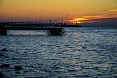 Sunset (Maria Eklind) Tags: bridge sunset sea sky nature water colors se skne sweden outdoor himmel sverige malm solnedgng brygga resund ribersborg skneln