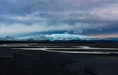 Before The Storm (Marshall Ward) Tags: winter mountains clouds river landscape iceland roadtrip desolate lavafield ringroad 2015 nikond800 afszoomnikkor2470mmf28ged marshallward