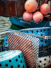126/66 Fishing Jumble - 366 Project 2 - 2016 (dorsetpeach) Tags: blue red england orange fish boat fishing dorset 365 weymouth buoy weymouthharbour 2016 366 aphotoadayforayear 366project second365project