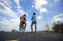 (Kals Pics) Tags: life boy sky people india girl childhood bicycle kids clouds children fun play pov perspective streetlife games tamilnadu roi villagepeople cwc villagelife rurallife ruralindia indianvillages nemam thiruvallur tiruvallur ruralpeople rootsofindia kalspics chennaiweelendclickers