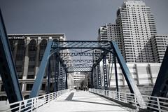 Blue Bridge 2 (DJ Wolfman) Tags: bridge blue art texture canon michigan michiganfavorites grandrapids grandrapidsmi westmichigan 2470mmf28 5dmarkiii