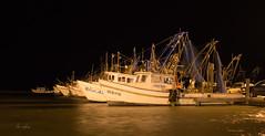 Working Girls at Night (lisanelson2011) Tags: sunset sunrise harbor rainbow bigtree rockport shrimpboats gooseisland 2016