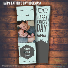 father's day ,Bookmark photoshop template - Valentine's designs for photographers (The Cool Party) Tags: party photoshop paper photography design photographer graphic father card supplies psd template invitations bookmark announcements templates printable photocard