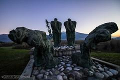 War Memorial - Pederobba (John_K_Seven) Tags: sculpture mountain art monument statue sunrise canon memorial arte alba monumento dramatic sculture prospettiva prospective veneto drammatico eos760d