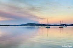 0S1A4280enthuse (Steve Daggar) Tags: sunset panorama reflection reflections landscape boats yacht waterscape brisbanewater woywoy panno