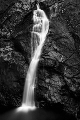 The Falls (Ginger Snaps Photography) Tags: longexposure rock contrast mono scotland long exposure power falls rockface highland inverness foyers