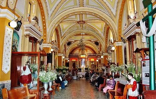 Interior del Templo de San Pedro Yancuitlalpan, Sn. Nicolás de los Ranchos, Pue.
