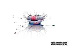crown #2 (michaelfritze) Tags: art water wasser bubbles drop splash liquids highspeed wassertropfen tropfen tats highspeedphotography fontne liquidart strobist farbtropfen hochgeschwindigkeitsfotografie liquiddrop stopshot michaelfritze