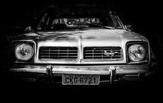 Chevette (Guilherme Nicholas) Tags: street shadow blackandwhite white black chevrolet monochrome car streetphotography