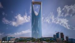 The Kingdom Tower (MNmagic) Tags: road travel blue sky urban tower art clouds hotel downtown raw drawing sony cybershot alfa alpha riyadh saudiarabia ksa a6000 a6300 riyadhprovince