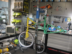 Custom Moulton (Phoenix Cycles) Tags: bicycleshop moulton moultonbicycle smallwheeledbicycle phoenixcycles moultonapb customisedbicycle