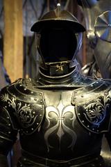 The dark knight (Lars Plougmann) Tags: england london museum unitedkingdom gb knight armour toweroflondon dscf9559