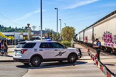 Fatal BNSF Train vs Pedestrian Incident 04/19/2016 (andrewkim101) Tags: ford washington state police utility wa suv interceptor edmonds