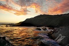 When i see you again (FlavioSarescia) Tags: ocean travel sunset sea sky seascape reflection nature water sunshine clouds reflections landscape southafrica coast rocks sony roadtrip keurboomstrand sonyalpha