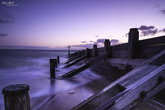 Back Wash (Alex365pix) Tags: sea sunrise coast nikon seascapes northumberland groyne northeastcoast seatonsluice cokinz nikon24120f4 nikond610