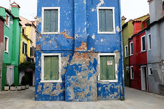 Burano : la maison bleue. (http://visiteursdumonde.com) Tags: venice venise venezia burano
