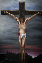 It Is Finished: Into Thine Hands (New Painting Detail) (Life_After_Death - Shannon Day) Tags: life christmas color detail art canon painting easter religious photography eos death artwork paint artist day christ cross god surrealism faith religion jesus sunday birth fine stroke lord brush christian canvas shannon oil crucifix manger lamb bible after dslr risen canondslr canoneos biblical crucifixion behold babyjesus realism jesuschrist resurrection eastersunday crucified lifeafterdeath christianart 50d doubtingthomas heisrisen shannonday canoneos50d bibleart christianartist eosdslr beholdthelamb canoneos50ddslr lifeafterdeathstudios lifeafterdeathphotography shannondayphotography shannondaylifeafterdeath shannondayart shannondayartist shannondaypainting shannondaybibleart