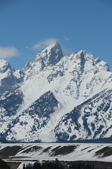 Grand Teton from Snake River Overlook 3 (Aggiewelshes) Tags: travel winter snow landscape scenery april wyoming jacksonhole grandtetonnationalpark 2016 gtnp snakeriveroverlook