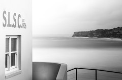 A room with a view (Martin Snicer Photography) Tags: longexposure bw building beach 50mm surf 6d tamarama ndfilter slsc