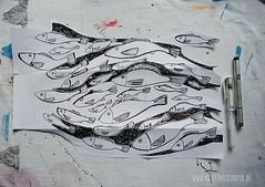 making_of_Fruehlingspost2016_5029.jpg (KristinaMariaS) Tags: screenprinting patterndesign handprintedfabric fishpattern amliebstenbunt kristinaschaper