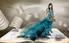 Atelier2 Mulher musica (Atelier 2) Tags: ar mulher cu musica ao nuvem sax livre partitura atelier2